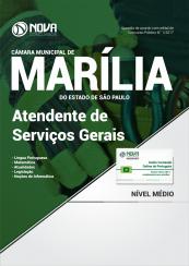 Apostila Câmara Municipal de Marília-SP - Atendente de Serviços Gerais