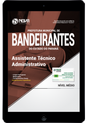 Download Apostila Prefeitura de Bandeirantes-PR PDF - Assistente Técnico Administrativo