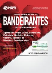 Apostila Pref. de Bandeirantes-PR - Agente de Serviços Gerais