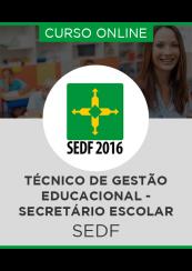 Curso Online SEDF - Técnico de Gestão Educacional - Secretário Escolar