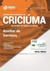 Apostila Prefeitura de Criciúma - SC - Auxiliar de Serviços