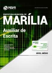 Apostila Prefeitura de Marília-SP - Auxiliar de Escrita