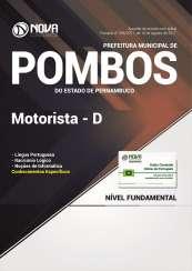 Apostila Prefeitura de Pombos - PE - Motorista D