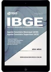 Download Apostila IBGE Pdf - Agente Censitário Municipal e Agente Cens. Supervisor