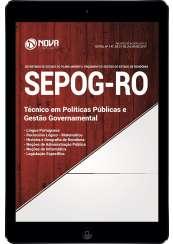 Download Apostila SEPOG-RO Pdf - Técnico em Políticas Públicas e Gestão Governamental