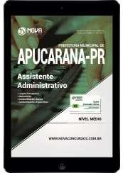 Download Apostila Prefeitura de Apucarana PR Pdf - Assistente Administrativo
