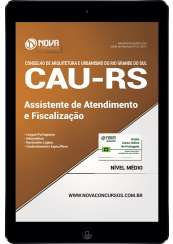 Download Apostila CAU-RS Pdf - Assistente de Atendimento e Fiscalização