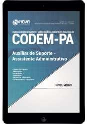 Download Apostila CODEM - PA Pdf - Auxiliar de Suporte e Assistente Administrativo