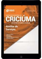 Download Apostila Prefeitura de Criciúma - SC Pdf - Auxiliar de Serviços