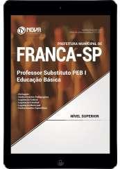 Download Apostila Prefeitura de Franca - SP Pdf - Prof. Substituto PEB I: Educação Básica
