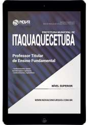 Download Apostila Pref. de Itaquaquecetuba SP Pdf - Prof. Titular Ensino Fundamental