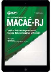 Download Apostila Pref. de Macaé-RJ Pdf - Enfermeiro e Técnico em Enfermagem