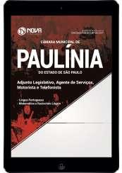 Download Apostila Câmara Mun. de Paulínia - SP 2017 Pdf - Adjunto Legislativo, Agente de Serviços, Motorista e Telefonista