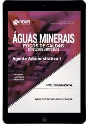 Download Apostila Águas Min. de Poços de Caldas - MG Pdf - Agente Administrativo I
