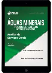 Download Apostila Águas Min. de Poços de Caldas - MG Pdf - Auxiliar de Serviços Gerais