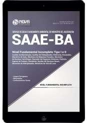 Download Apostila SAAE Juazeiro BA Pdf - Nível Fundamental Incompleto Tipo I e II