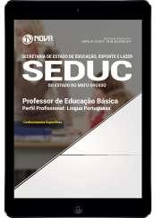 Download Apostila SEDUC-MT Pdf - Professor de Educação Básica: Língua Portuguesa
