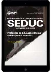Download Apostila SEDUC-MT Pdf - Professor de Educação Básica - Matemática
