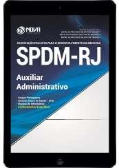 Download Apostila SPDM-RJ Pdf - Auxiliar Administrativo