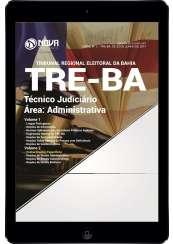 Download Apostila TRE-BA Pdf - Técnico Judiciário - Área: Administrativa