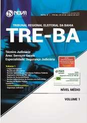 Apostila TRE-BA - Técnico Judiciário – Área: Serviços Gerais – Especialidade: Segurança Judiciária