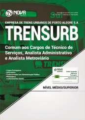Apostila TRENSURB - Comum aos Cargos de Técnico de Serviços, Analista Administrativo e Analista Metroviário