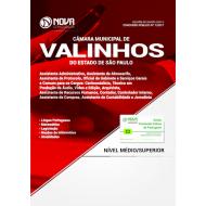Apostila Câmara de Valinhos - SP - Assistente Administrativo, Serviços Gerais e  Comum Médio e Superior