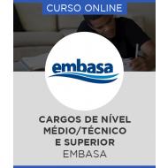 Curso Online EMBASA - BA – Cargos de Nível Médio/Técnico e Superior