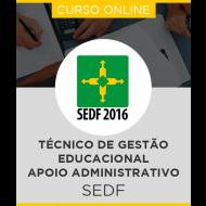 Curso Online SEDF - Técnico de Gestão Educacional - Apoio Administrativo