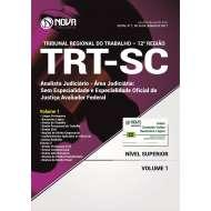 Apostila TRT-SC (12ª Região) - Analista Judiciário - Área Judic: S/ Especialidade e Especialidade Oficial de Justiça Avaliador Federal