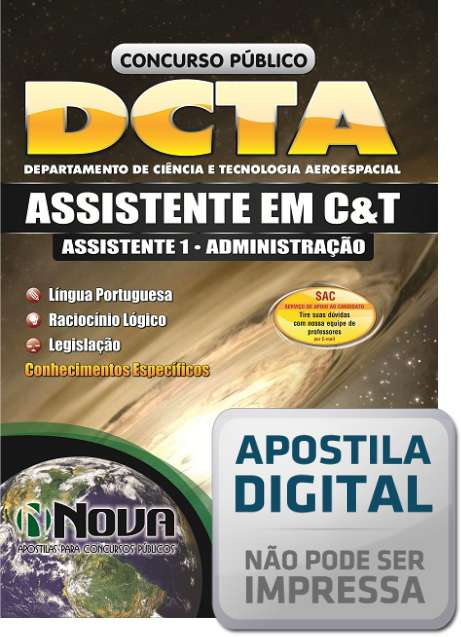 Apostila para o Concurso DCTA Assistente em Administração