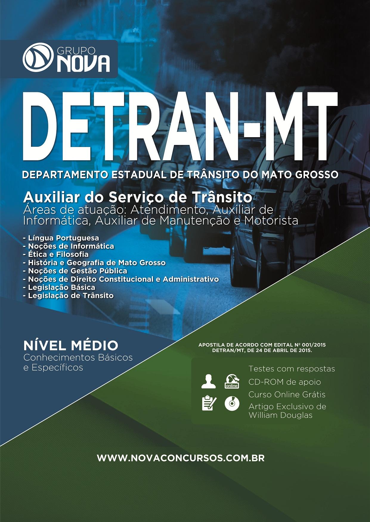 Auxiliar do Serviço de Trânsito - Detran MT ( Impressa )