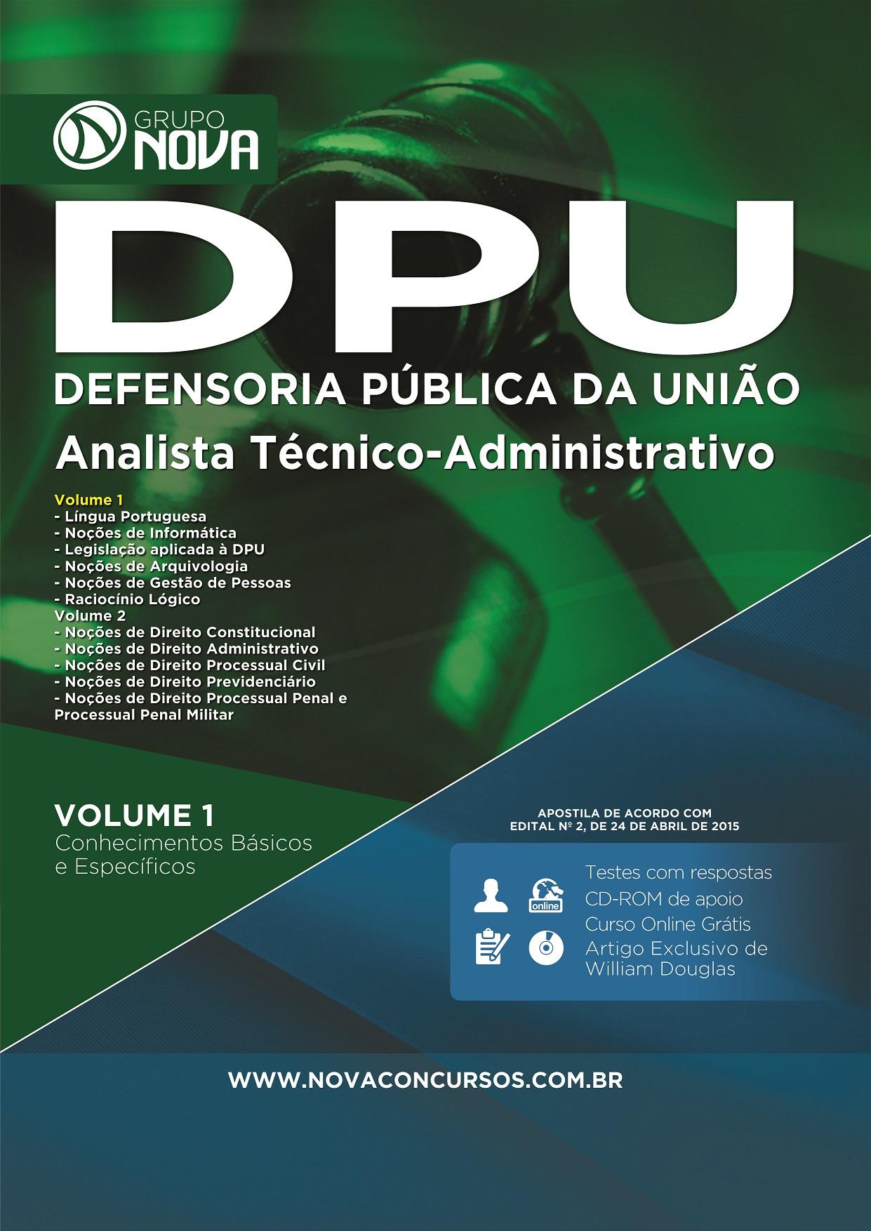 Apostila Concurso DPU para Analista Técnico Administrativo