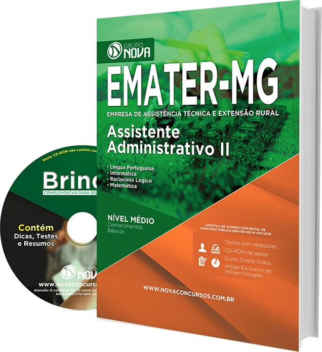 Apostila EMATER - MG 2016 - Assistente Administrativo II