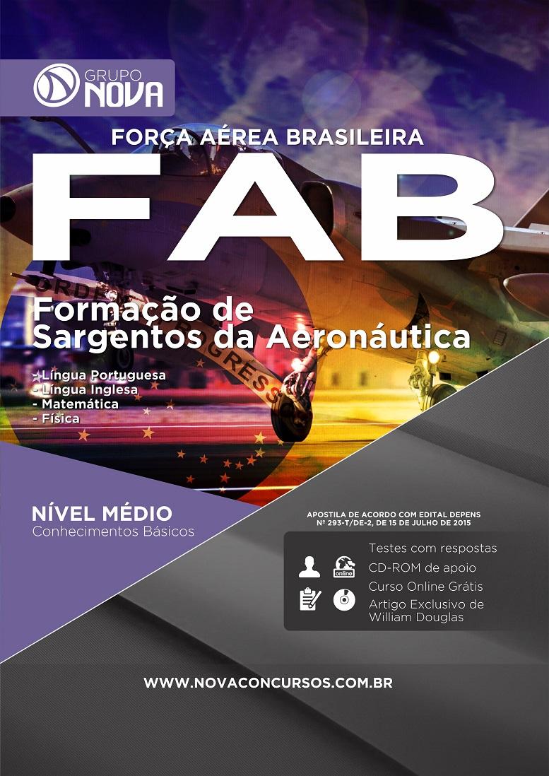Apostila FAB 2015 - Curso de Formação de Sargentos da Aeronáutica ( Impresso )