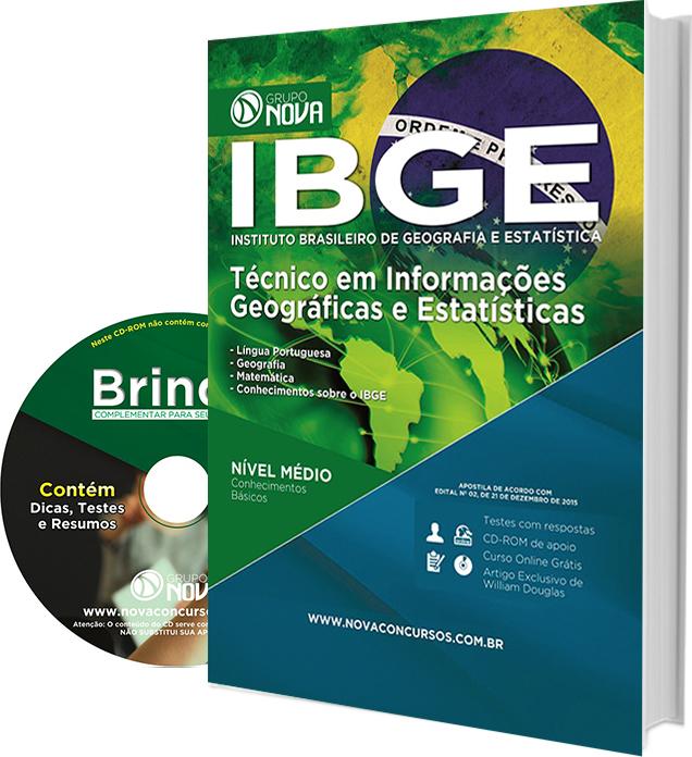 Apostila IBGE Técnico em Informações Geográficas e Estatísticas.