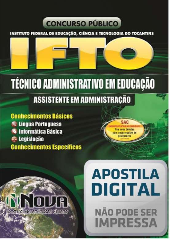 Apostila Instituto Federal do Tocantins para Técnico Administrativo em Educação - Assistente Administrativo