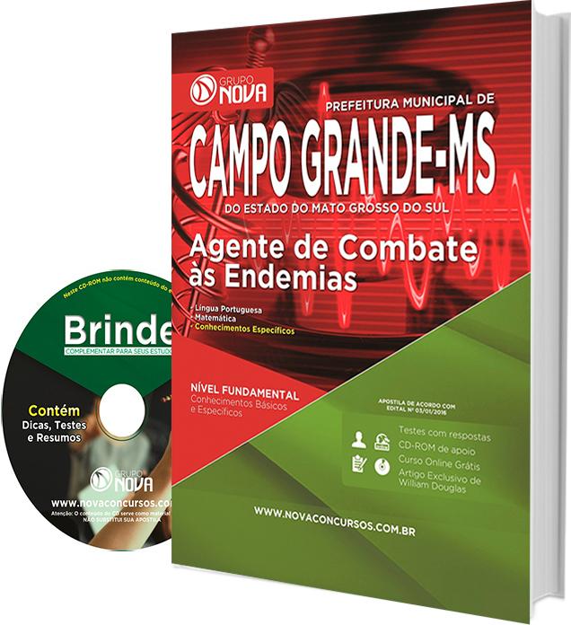 Apostila Prefeitura de Campo Grande 2016 - Agente de Combate às Endemias