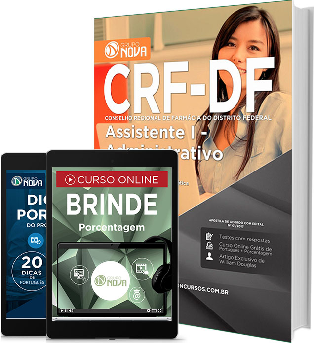 Apostila CRF-DF 2017 Assistente Administrativo (Download vídeo-aula)