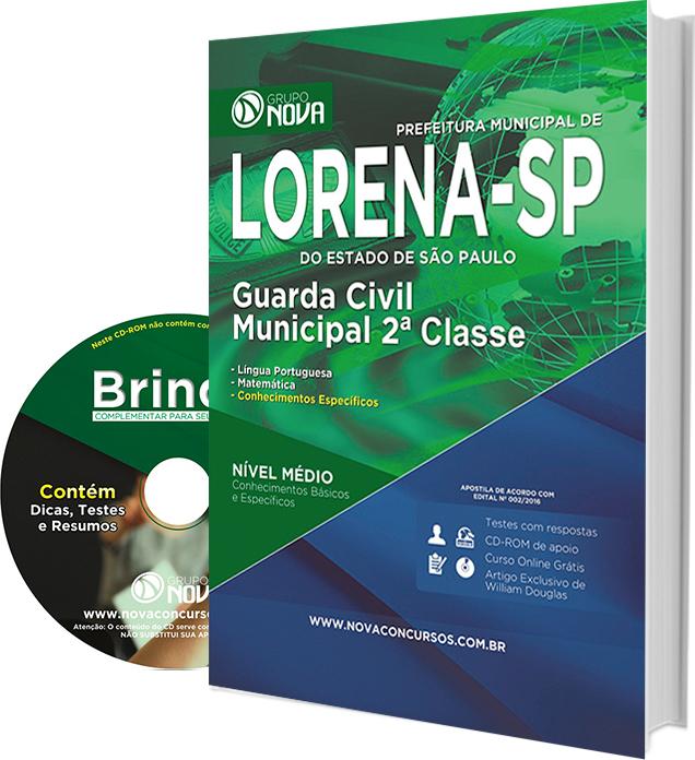 Apostila Prefeitura de Lorena - SP 2016 - Guarda Civil Municipal 2ª Classe
