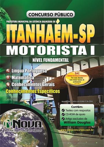 Apostila concurso Prefeitura de Itanhaém SP para Motorista I Impressa PDF