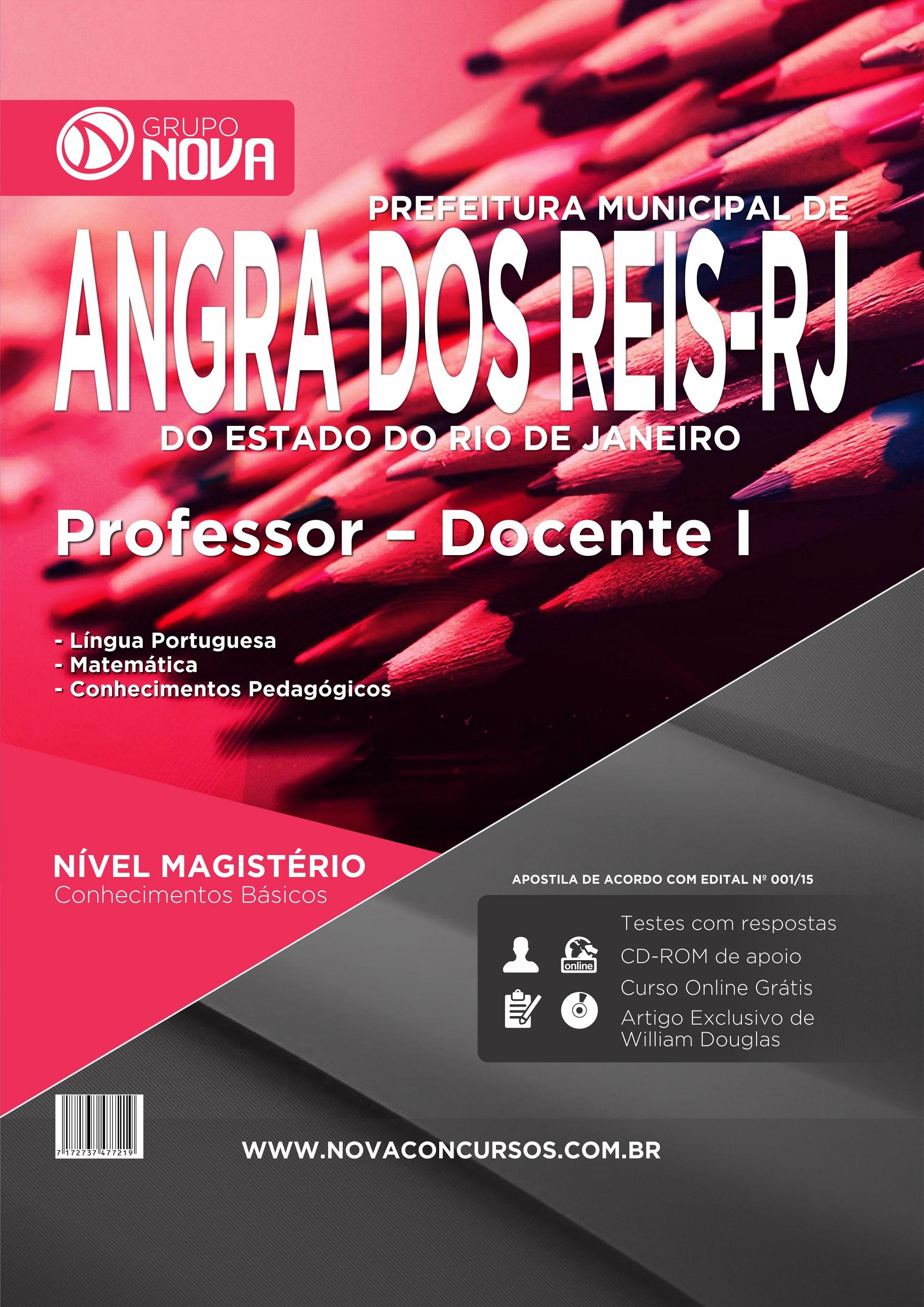Apostila Angra dos Reis 2015 - Professor - Docente I ( Impresso )