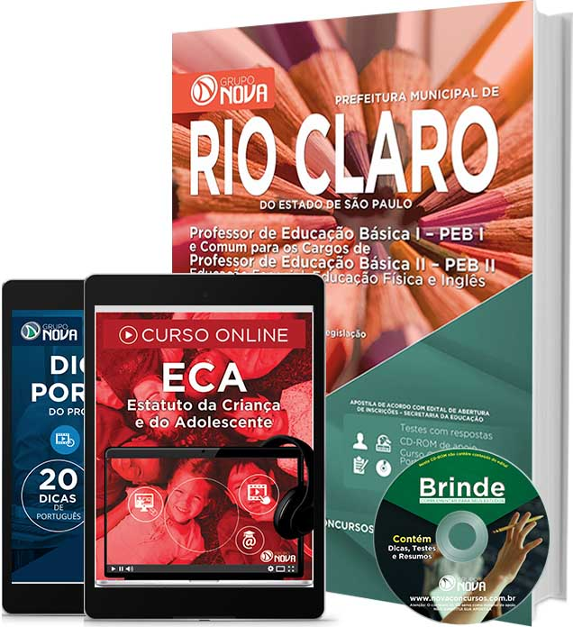 Apostila concurso Prefeitura de Rio Claro 2016.