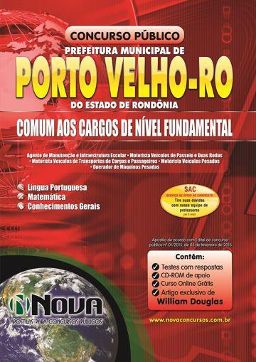 Apostila Concurso da Prefeitura de Porto Velho para cargos de Nível Fundamental.