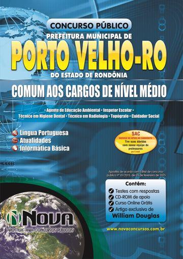 Apostila Prefeitura de Porto Velho - Nível Médio (Grátis CD ROM)
