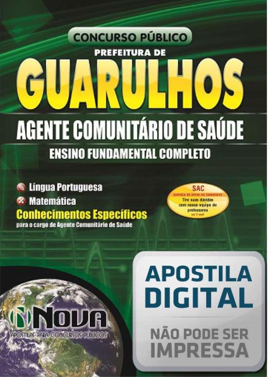 Apostila Digital - Agente Comunitário de Saúde - Prefeitura de Guarulhos 2014