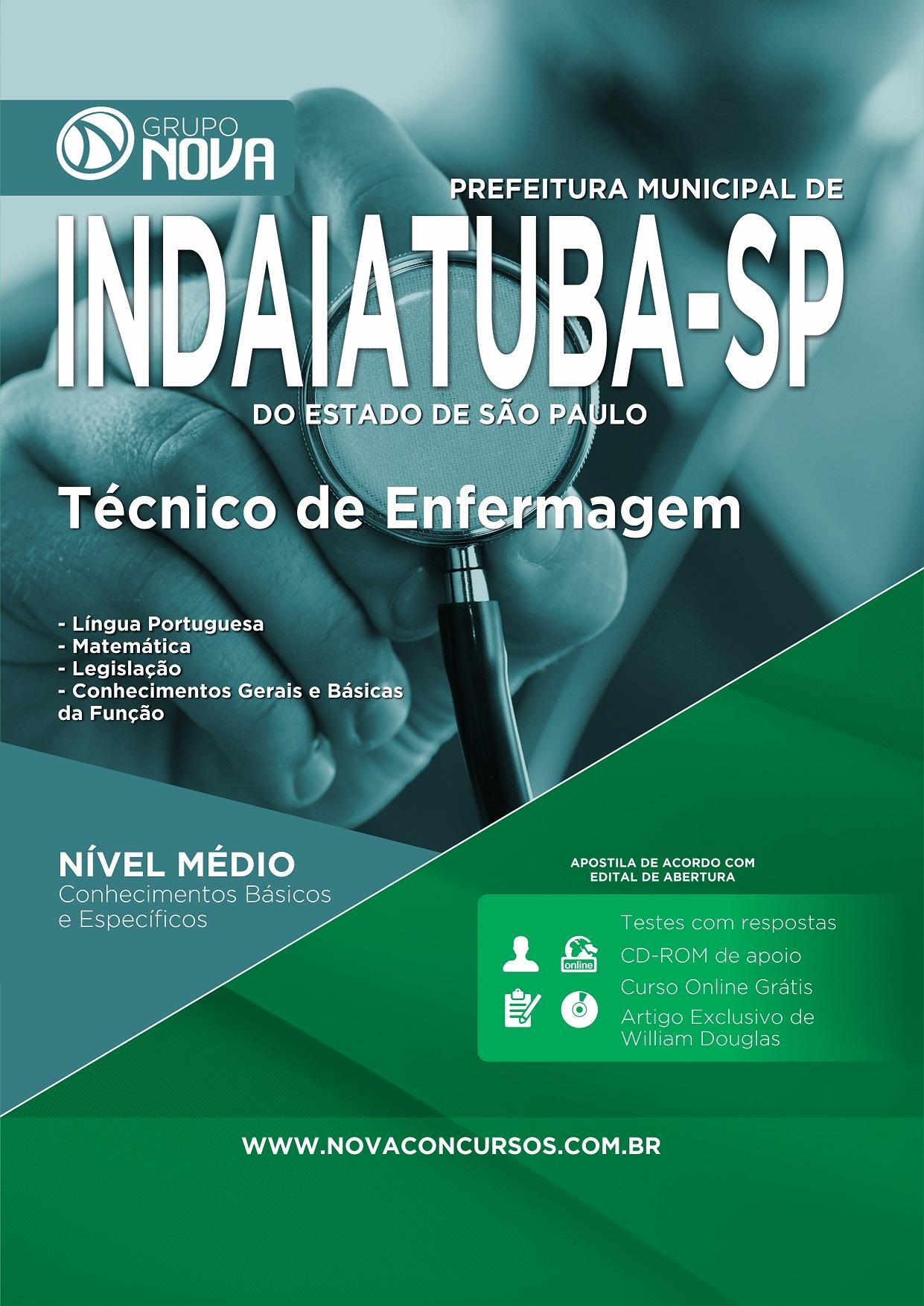 Apostila Prefeitura de Indaiatuba - Técnico de Enfermagem (Impressa)