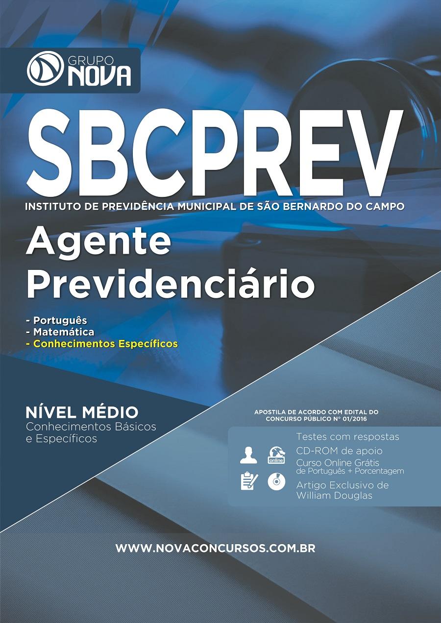 Apostila Concurso SBCPrev São Bernardo 2016 Agente Previdenciário