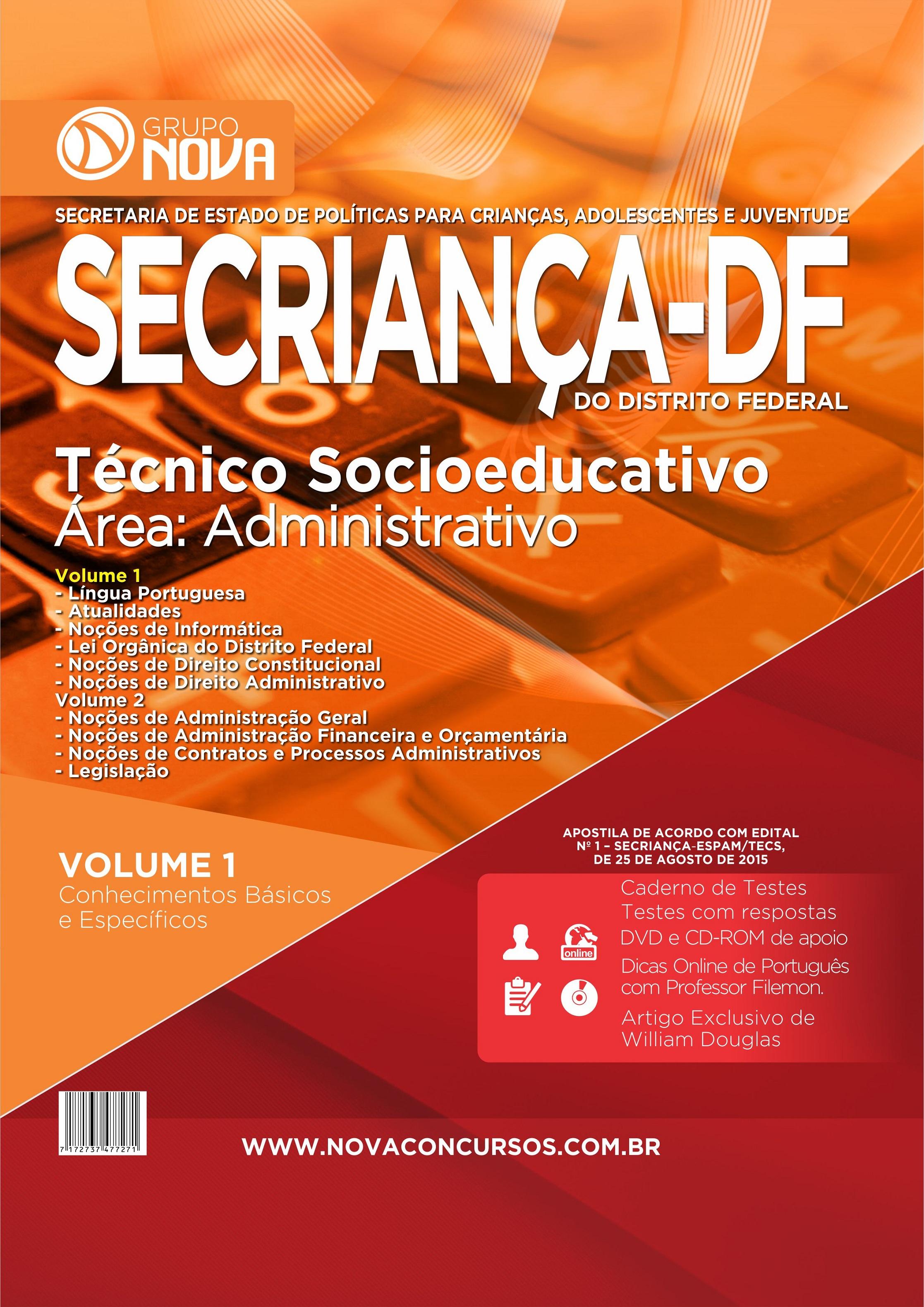 Apostila SECriança 2015 - Técnico Socioeducativo ( Impresso )