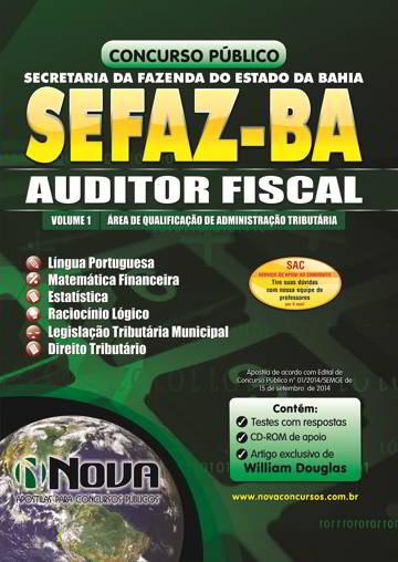 Apostila Concurso SEFAZ de Salvador 2014 para Auditor Fiscal - Administração Tributária